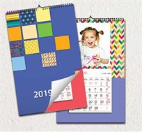 לוח שנה ספירלה מעוצב בגודל A5 עם תמונות אישיות לבחירתכם