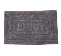 """שטיחון אמבט Enjoy אפור 50X80 ס""""מ כותנה 100% ורדינון"""