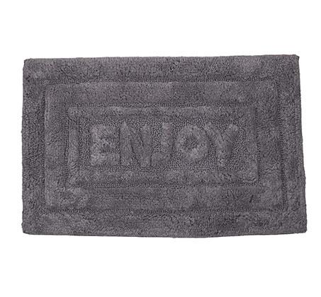 """שטיחון אפור לאמבט 50X80 ס""""מ מכותנה"""