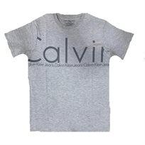 calvin klein קלווין קליין (7-5 שנים) טישרט - אפור כיתוב