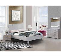 סט ריהוט לחדר השינה עם מיטה שידות ומראה דגם ליאור