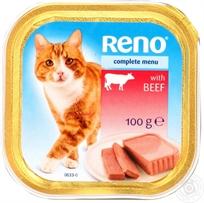 12 רנו מעדן פטה 100 גרם לחתול עוף ובקר