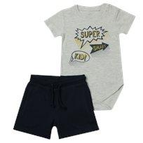 Minene חליפת בגד גוף (6-24 חודשים) - Super אפור כחול