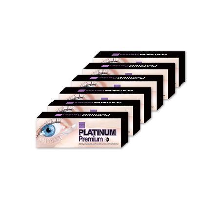 מארז 12 חבילות עדשות מגע פלטינום פרימיום לחצי שנה עם חוסם UV