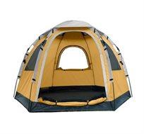 אוהל לקמפינג הכולל 3 חלונות גדולים ומרושתים