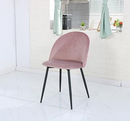 כסא בריפוד קטיפה לפינות אוכל בצבעים לבחירה