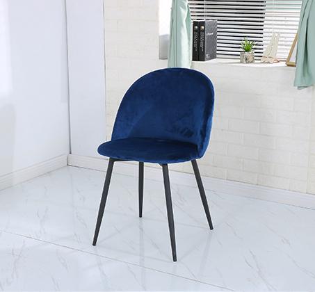 כיסא לפינת אוכל נוח מעוצב בריפוד בד קטיפה במגוון צבעים לבחירה - תמונה 5
