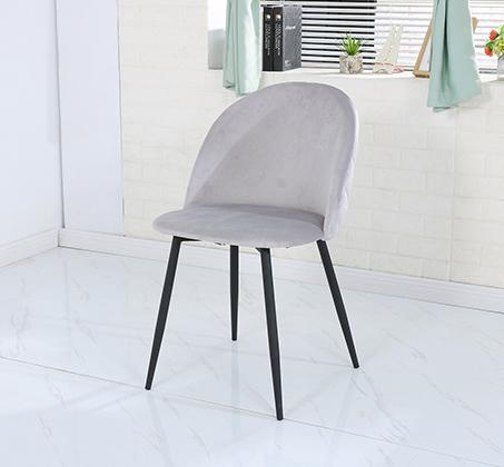 כיסא לפינת אוכל נוח מעוצב בריפוד בד קטיפה במגוון צבעים לבחירה - תמונה 2