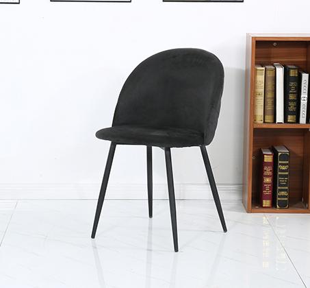 כיסא לפינת אוכל נוח מעוצב בריפוד בד קטיפה במגוון צבעים לבחירה - תמונה 6