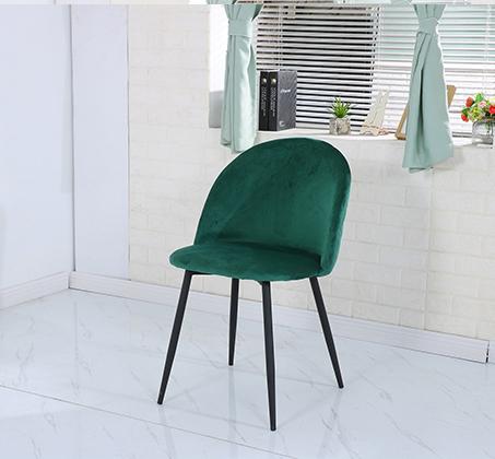כיסא לפינת אוכל נוח מעוצב בריפוד בד קטיפה במגוון צבעים לבחירה - תמונה 3