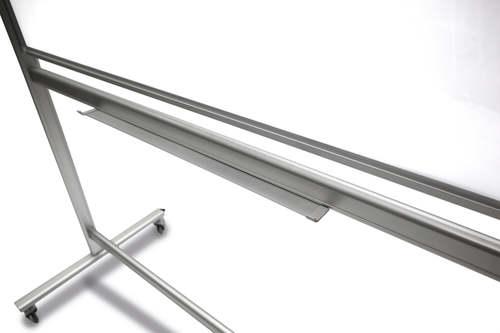 לוח זכוכית מחיק מגנטי נייד על גלגלים דו צדדי 90x120 ס