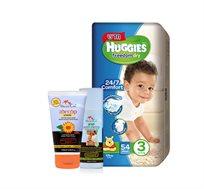 מארז 3 חבילות Huggies Freedom Dry + משחת החתלה וסבון קלנדולה Mommy Care