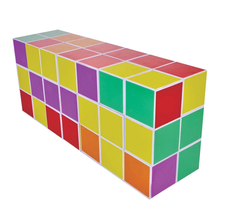 קוביות מגנט להרכבה בתלת מימד 64 חלקים PLAYMAGER - משלוח חינם - תמונה 5