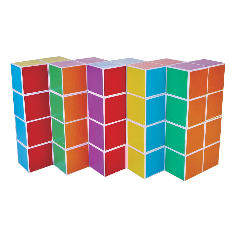 קוביות מגנט להרכבה בתלת מימד 64 חלקים PLAYMAGER - משלוח חינם - תמונה 6