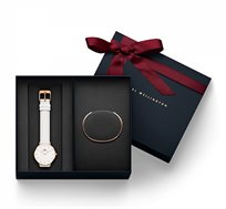 סט שעון יד לאישה Classic Petite Bondi + צמיד קשיח קטן - רוז גולד