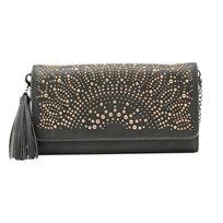Desigual Mone Passion Wallet Bag - ארנק מלבני שחור בעיטור ניטים