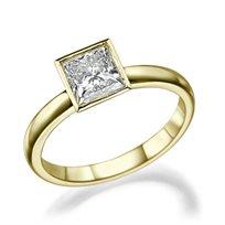 """טבעת יהלום """"ססיל"""" 1.01 קראט זהב צהוב"""