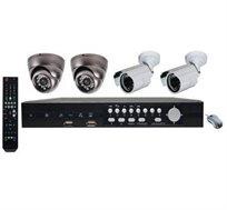 מערכת אבטחה DVR עם 4 מצלמות