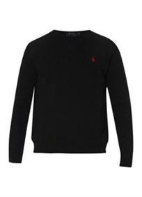 RALPH LAUREN חולצת (7-2 שנים) בייסיק שרוול ארוך - שחור