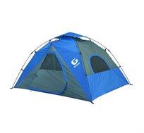 אוהל קמפינג GURO לעד 4 אנשים מרווח וקל להקמה עם 4 חלונות פנורמיים וכניסה אחת דגם Panorama 4P