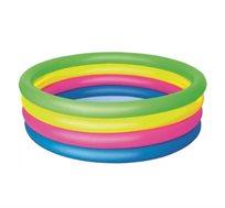 """בריכה מתנפחת צבעונית לילדים בגודל 157x46 ס""""מ Bestway"""