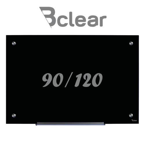 לוח זכוכית מחיק מגנטי 90X120 ס''מ שחור - Bclear