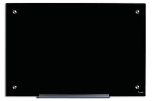 לוח זכוכית מחיק מגנטי 90x120 ס''מ שחור - Bclear - תמונה 5