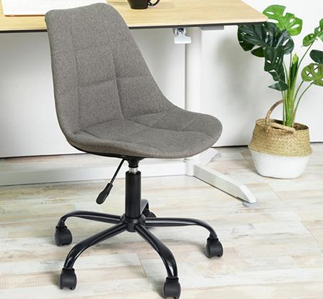 כיסא מנהלים לבית או למשרד בריפוד בד עם מנגנון שעולה ויורד דגם הוגו Homax - תמונה 2