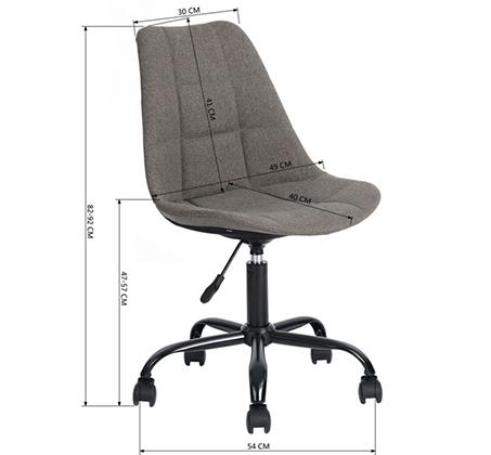 כיסא מנהלים לבית או למשרד בריפוד בד עם מנגנון שעולה ויורד דגם הוגו Homax - תמונה 6