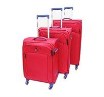 סט 3 מזוודות סוויס דגם NICE RED 8015 - אדום