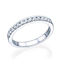 טבעת יהלומים אפדק 0.35 קראט בניקיון Vs2 עשויה זהב לבן / צהוב