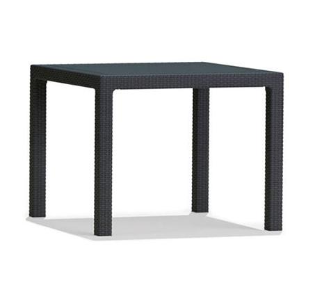 סט פינת ישיבה לגינה דמוי ראטן שולחן מרובע 95 ס