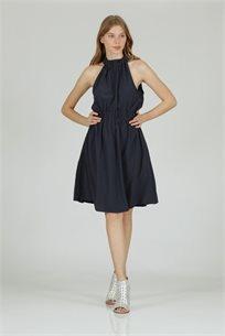 שמלה סאטן קולר כחול - קקאו