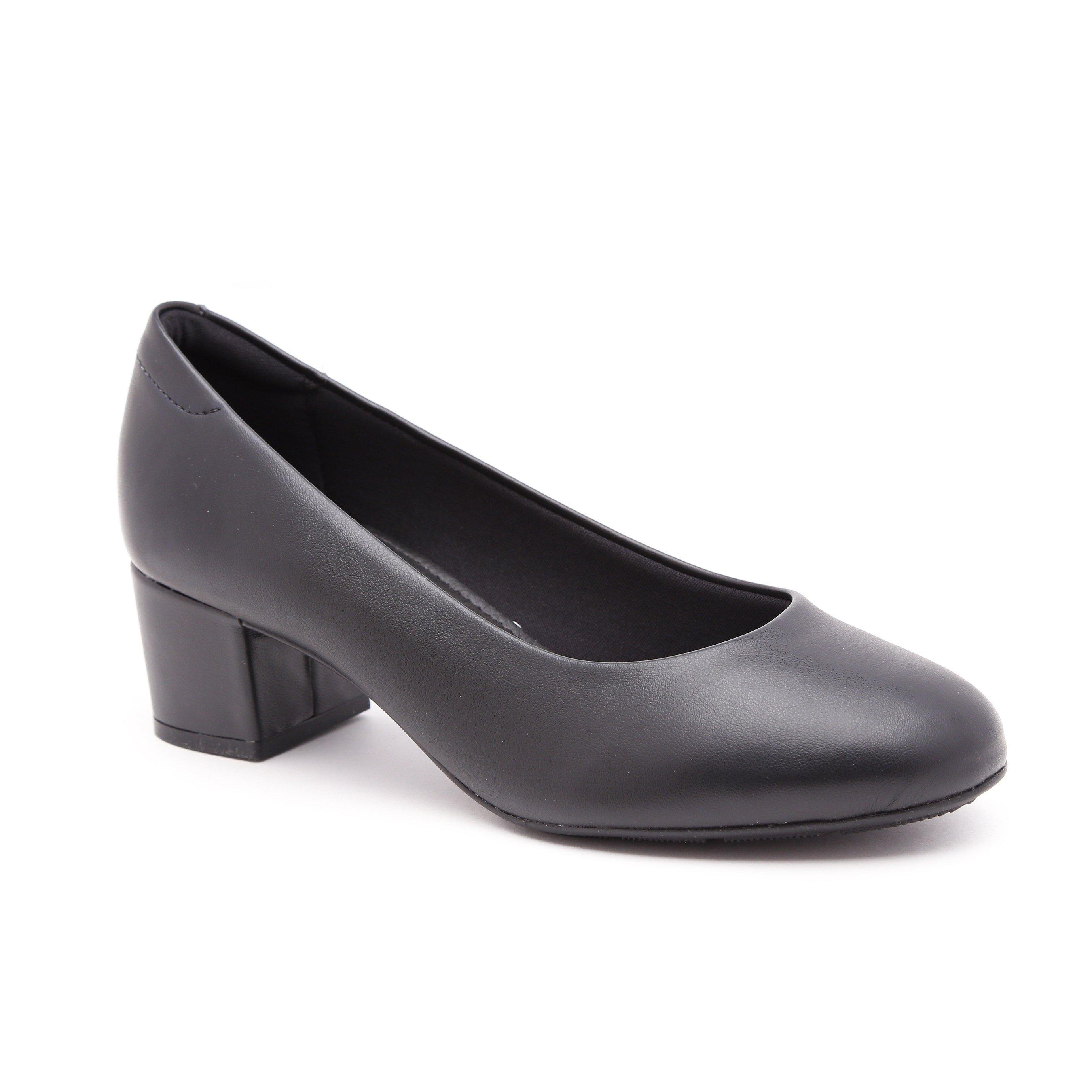 Modare - נעלי עקב נמוך מודארה לנשים בצבע שחור