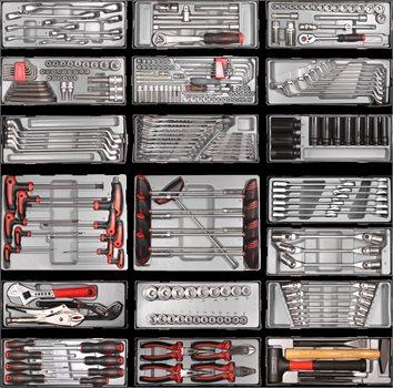 עגלת כלים 7 מגירות מודולרית מפוארת 284 חלקים - משלוח חינם - תמונה 3
