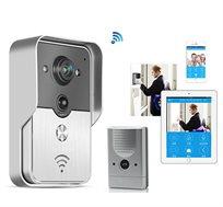 אינטרקום אלחוטי WIFI IP משולב מצלמה עם אפשרות צפייה מכל טלפון חכם או טאבלט כולל הקלטה דיבור והאזנה