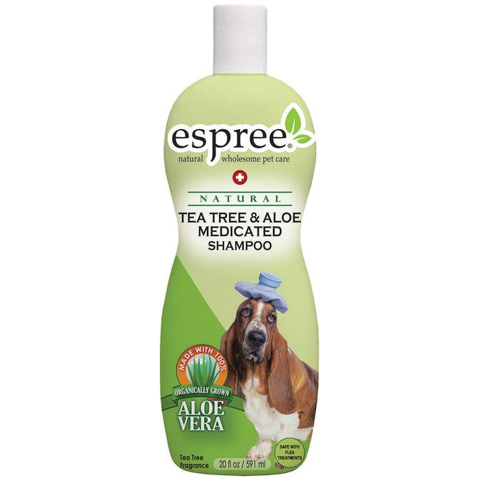 שמפו טיפולי אספרי לכלב עץ התה ואלוורה