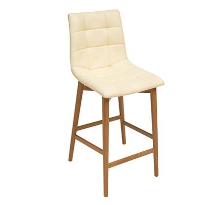כסא בר גבוה מרופד למטבח דגם דניאל במבחר גוונים לבחירה