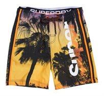 בגד ים Superdry Photographic Volley לגברים בצבע צהוב