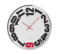 שעון לבן שש אדום מסגרת מתכת OLIVER HEMMING