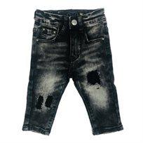 ג'ינס Oro לילדים (מידות 12 חודשים-16 שנים) - אפור קרעים