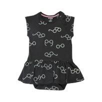Minene שמלת בגד גוף (3-12 חודשים) - שחור משקפים