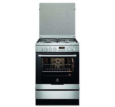 תנור משולב כיריים Electrolux תא אפייה ענק 72 ליטר נירוסטה דגם EKK6430AMX יבואן רשמי