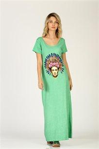 שמלה פרידה ומחשוף - מנטה