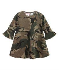 שמלה מסתובבת דפוס קמופלאג