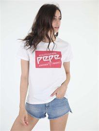 חולצה פפה ג'ינס לבנה לנשים