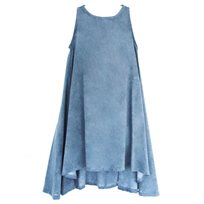 שמלה NO BIGGIE לילדות (2-12 שנים) כחול בהיר