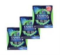 6 חבילות טמפונים Tampax Compax Pearl סופר