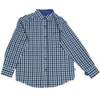 NAUTICA / נאוטיקה (20-8 שנים) חולצה מכופתרת משבצות - ירוק כחול