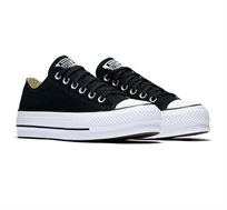 נעלי סניקרס נמוכות עם פלטפורמה לנשים All Star בצבע שחור